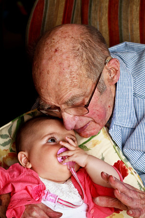 Dad and his great granddaughter Lyla