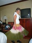 Me swinging my skirt as I get ready for my 40th HS reunion dance in Asheville, NC.