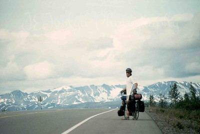 My son - Alaska, 1993, just left Denali Mountain, going towards Anchorage.