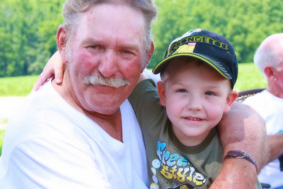 Papaw and his little man.