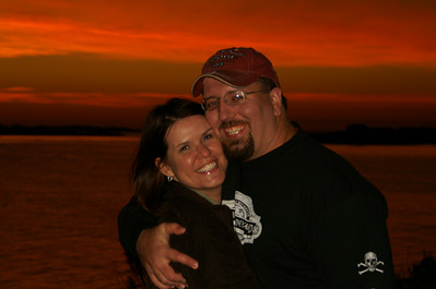 Michelle and I enjoying a New England sunset