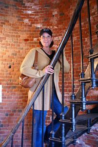 Michelle at the Cape Cod Lighthouse in Massachusetts