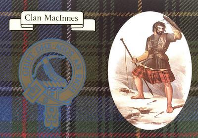 Clan MacInnes postcard - Front