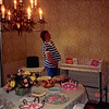 July 1986<br /> Karin Ruble's hom in Los Altos at my baby shower<br /> refreshments, gifts (new high chair, changing table, diapers), & me.