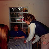 July 1986<br /> Karin Ruble's home in Los Altos, CA<br /> Cindy Carter, Debbie Justesen & Pat Riches working on quilt at my baby shower.