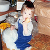 Oct. 1987<br /> 262 Marich Way, Los Altos<br /> Cindy (14 months) raiding the pantry.