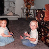 Sept. 1987<br /> West Jordan, UT<br /> grandma and grandpa Meakin's house<br /> Cindy (13 months) & her cousin Jenny (18 months)