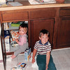 Sept. 1987<br /> 2007 Broken Oak Dr., Blacksburg, VA<br /> Cindy (13 months) and Benjamin (3 1/2 yrs. old) causing mischief.