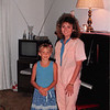 Sept. 1987<br /> Teresa and her first piano teacher Marcie Messer at her apartment in Blacksburg, VA.