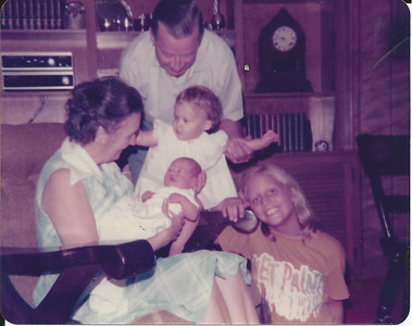 Anne Flinn, Caroline and baby Catherine with their Grandparents