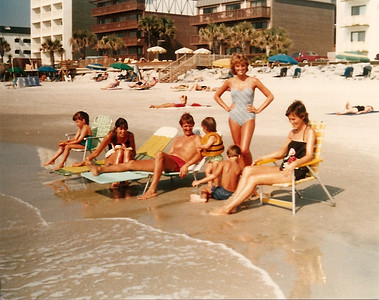 Catherine, Barb, Tom, Bridget, Edward III, Caroline, Melanie - Summer '84