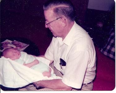 Granddaddy with 2 week old Edward III     1977