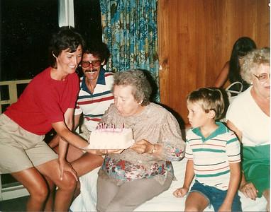 Celebrating Mom Cerne's birthday in Myrtle Beach - Summer '84