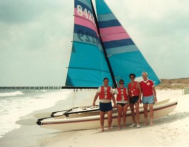 John, Jan, Ed, Jr. and Ed ,Sr. - Myrtle Beach, SC - Summer '84