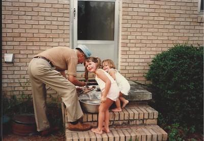 Cat & Lauren cleaning fish w/Granddaddy - Summer '83