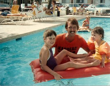 Catherine, Tom and Bridget - Summer '84 - Myrtle Beach, SC