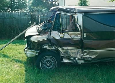My Van Wreck on Hwy 31 at Titus Alabama 1996