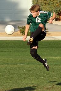 Chris making a great volley!  (Grove @ Desert Chapel 1/27/2014)