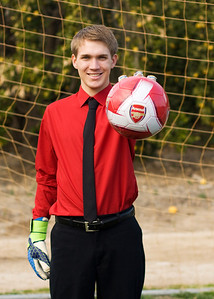 my goalkeeper son having some fun doing his Sr. picture session (Feb 2014).
