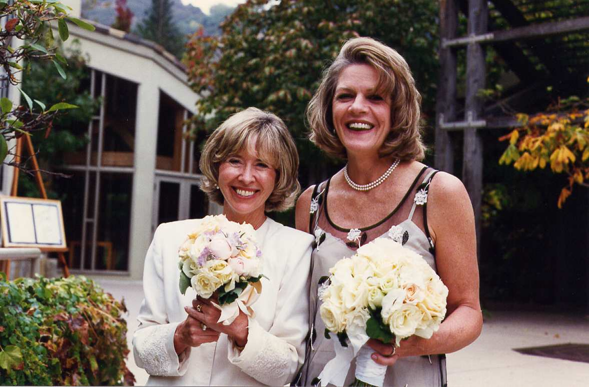 Wedding, 1995 - with college roommate Sally