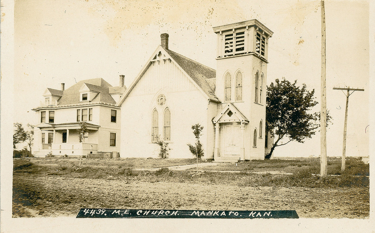 Methodist episcopal Church, Mankato Kansas where Albert and Dovie were married.