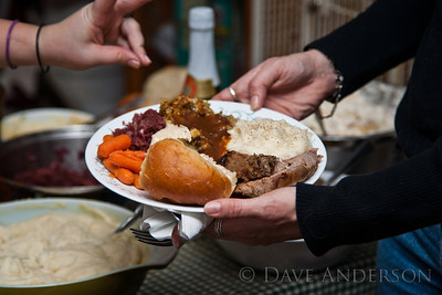 Prime Rib, Stuffing, Gravy, Cabbage/Bacon, potatoes & homemade rolls. Amazing eats!