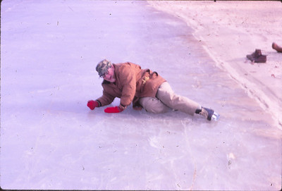 Slipped on the ice