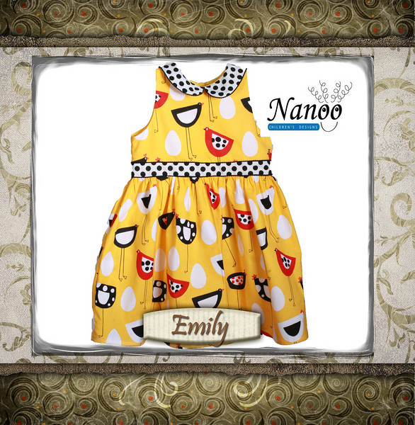 yellow bird dress 2