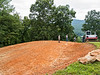 View from east (upper) side just after grading.  Sourwood tree is gone.