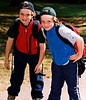 Benjy and Alec get ready to climb