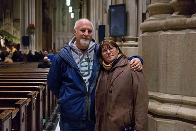 Myself and darlene inside Saint Patricks Cathedral, December 17, 2011