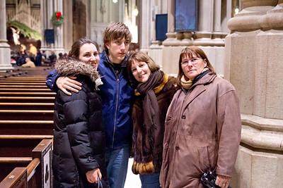 Jillian, Derek, Joan and Darlene inside Saint Patricks Cathedral, NYC, December 17, 2011