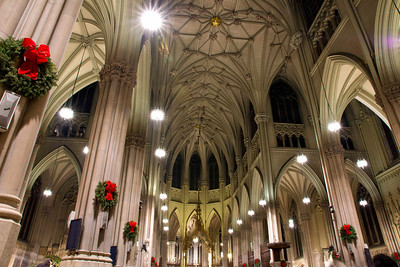 Saint Patricks Cathedral ceiling