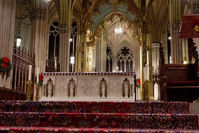 Saint Patricks Cathedral main altar, NYC, December 17, 2011