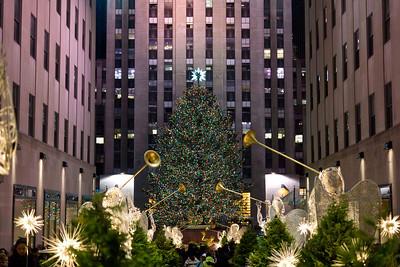 Rockerfeller Plaza Christmas Tree, December 17, 2011