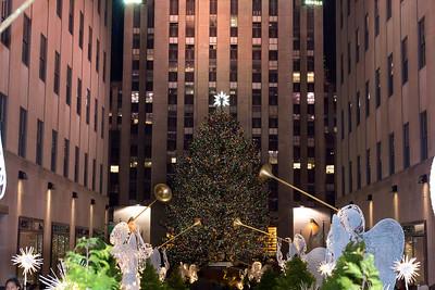 Rockefeller Plaza Tree, December  17, 2011
