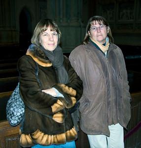 Joan & Darlen inside Saint Patricks, December 17, 2011