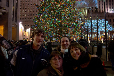 Derek, Darlene, Jillian & Joan outside Rockefeller Plaza, december 17, 2011
