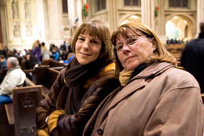 Jan and darlene share some quite time inside Saint Patricks cathedral. December 17, 2011