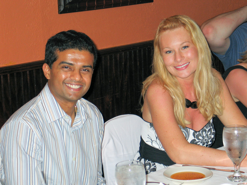 Girish and Jen at the rehearsal dinner.