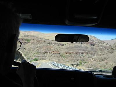 driving toward Lewiston