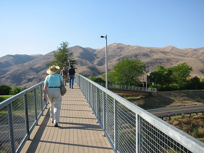 Lewiston,  ID. Walking towards Center marking confluence of Snake and Clearwater Rivers.