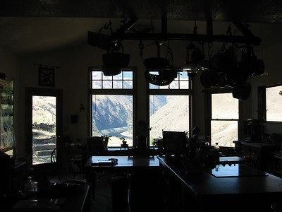 recent addition to kitchen (with view of Salmon River)