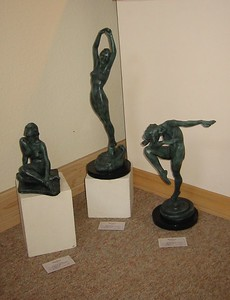 3 figures by Nancy's mother Martha Hood Nichols, also a sculptor.   Nancy has had these cast in bronze.