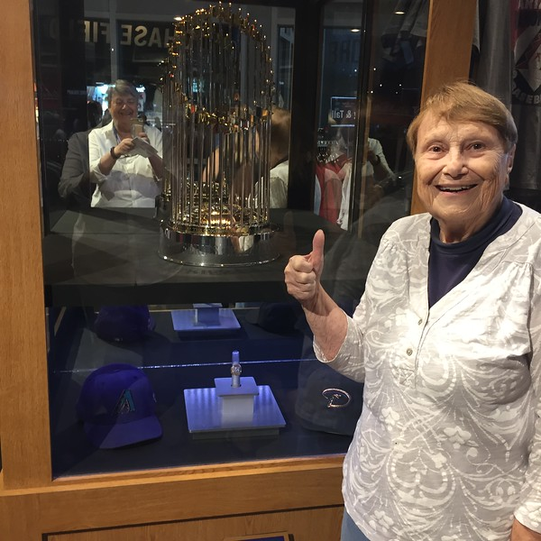 World Series Trophy, caps and ring