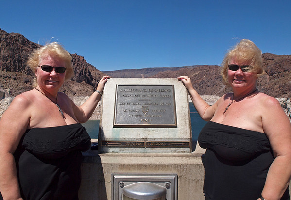 Nancy at the Hoover Dam - 19 June 2010