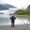 Nancy at Mendenhall Glacier on Alaska Dance Cruise - 31 May 2003
