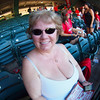 Nancy and my fisheye lens at Angel Stadium - 26 Sept 2010
