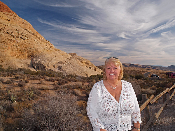 Nancy at Red Rock Canyon - 19 Dec 2009
