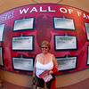 Nancy through the fisheye lens at the Wall of Fame - 26 Sept 2010